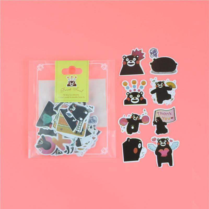 1 пакет, милые Мультяшные декоративные наклейки в Корейском стиле, клейкие наклейки, скрапбукинг, сделай сам, декоративные наклейки для дневника - Цвет: B