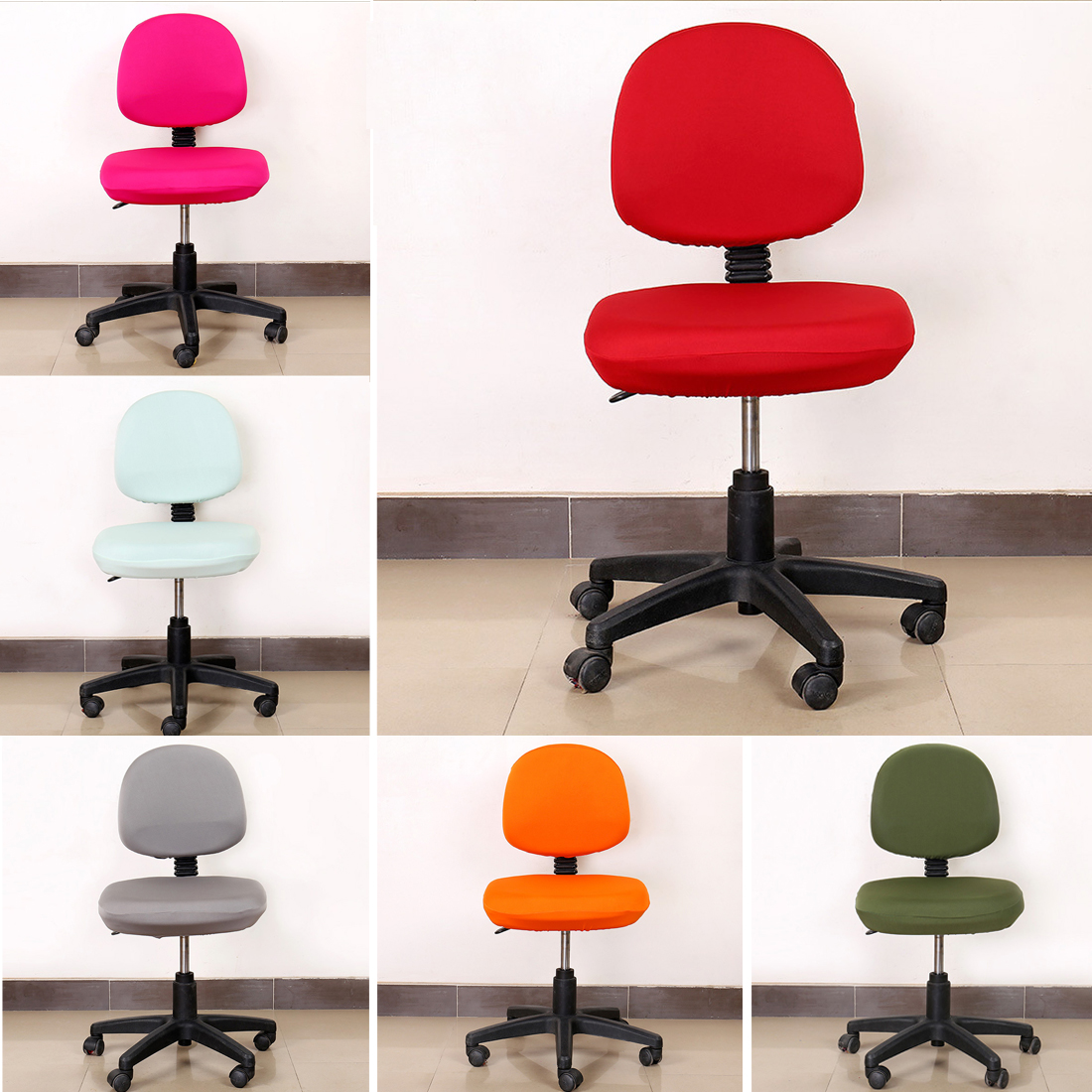 Free Shipping Spandex Chair Covers Stretch Elastic Slipcovers Office Chair For Computer Chair Gaming Chair Chair Covering