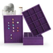 Serie púrpura De La Joyería Bandeja de la Exhibición 6 Clases De Estilo Noble de Color lavanda Para Darle La Más Cómoda Visual experiencia