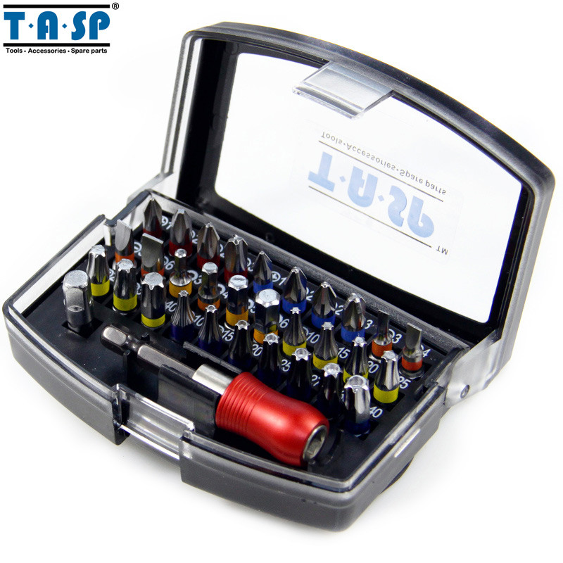 TASP 32 Pieces Professional Screwdriver Bits Set PH PZ SL Hex Torx with Magnetic Hex Holder  hammer 203 901 pb set no1 7pcs ph pz sl 7шт