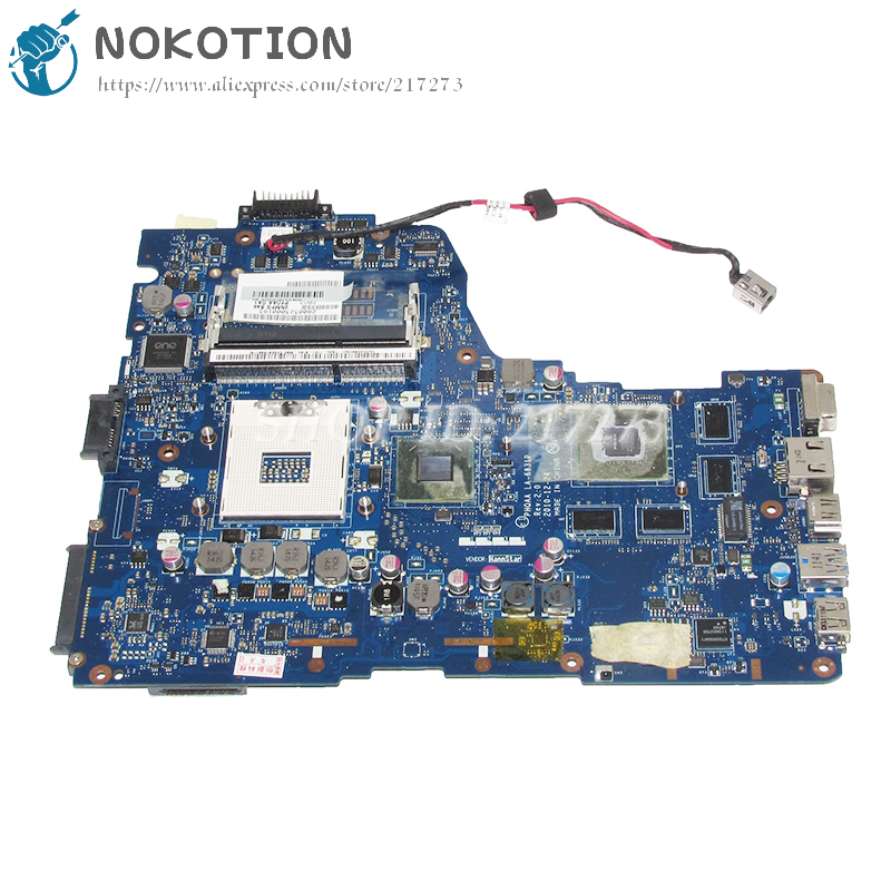NOKOTION K000121720 PHQAA LA-6831P Main Board For Toshiba satellite P750 P755 Laptop motherboard GT540M HM65 DDR3 nokotion a000175380 laptop motherboard for toshiba satellite c840 l840 main board ati hd7670m graphics ddr3 daby3cmb8e0
