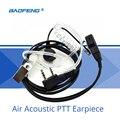 Baofeng accesorios aire acústica ptt auricular con micrófono en la oreja auricular para baofeng uv-5r de radio cb walkie talkie uv82 888 s