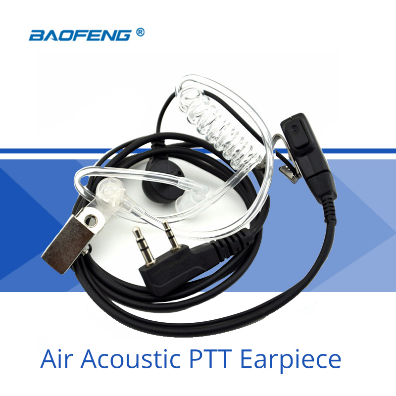 Radio Accessories Air Acoustic PTT Earpiece With Microphone In-ear CB Radio Headset For Bao Feng UV-5R 888S Walkie-Talkie