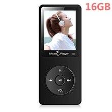 2017 Más Reciente IQQ X02 16 GB Reproductor de MP3 con Altavoz de 1.8 Pulgadas de Pantalla se puede jugar 80 horas con FM reproductor de música mp3 jugador del deporte Negro