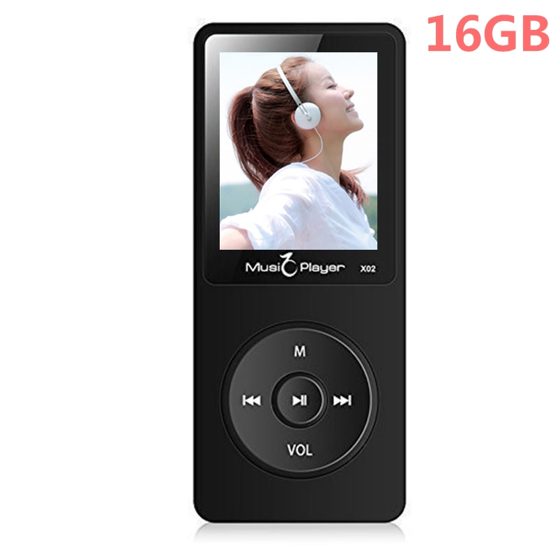 2020 Newest 16GB MP3 Player With Speaker 1.8 Inch Screen Can Play 80 Hours MP3 Music Player With FM Radio, Supports SD Card