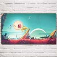 Cartoons Rick And Morty Rick Sanchez Art Silk Poster Home Decor Painting 11x20 16x29 20x36 24x43