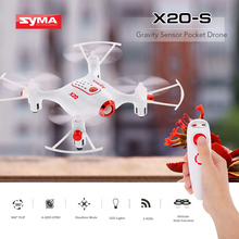 Syma X20-S 2.4G 6-aixs Gyro hand control Pocket Mini Drone RC Quadcopter RTF Headless Mode Altitude Hold 3D flip Helicopter
