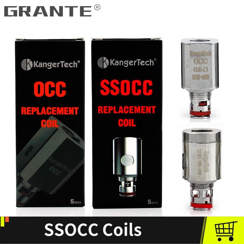 Kangertech SSOCC OCC Coil Head Sub ohm Coils For kanger Toptank Subtank Topbox mini Subox mini-c Protank 4 Atomizers Vape Tanks