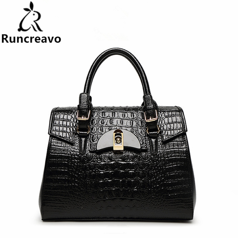 2018 Spring and summer new crocodile pattern handbags fashion ladies package.