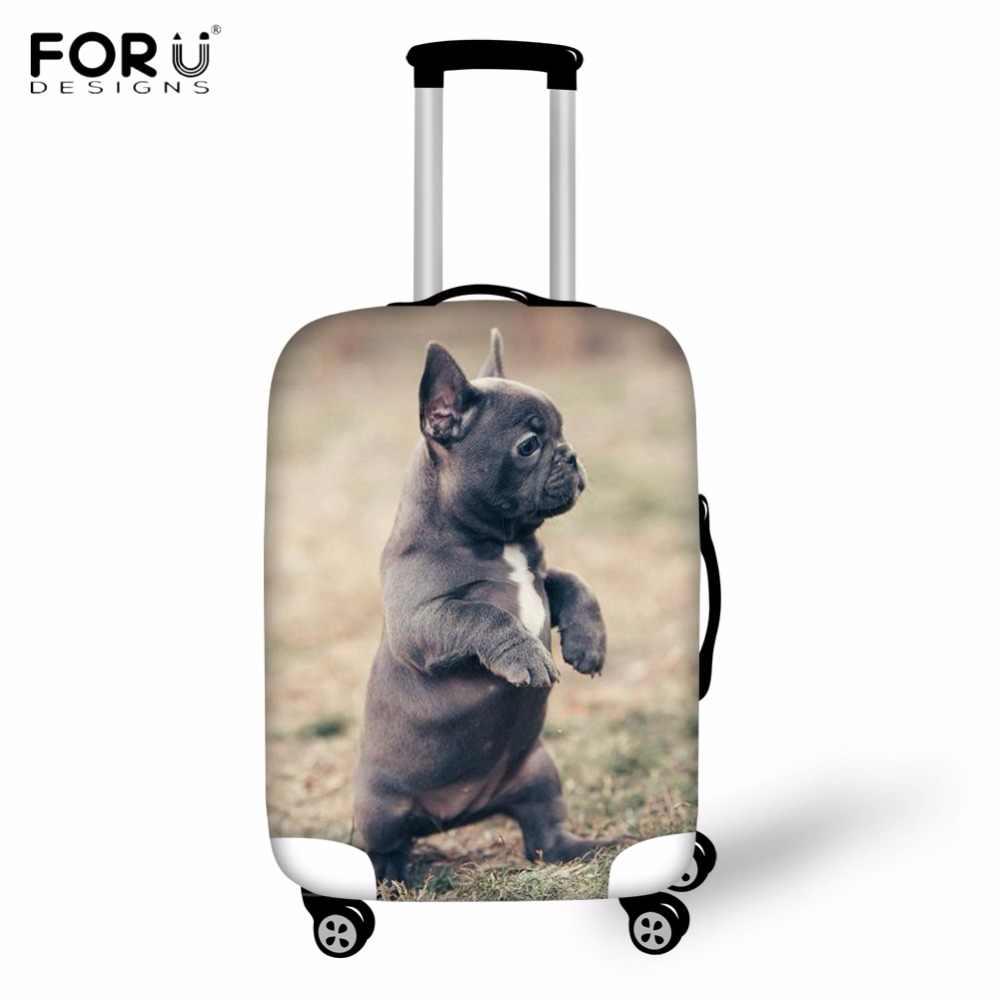 FORUDESIGNS Kawaii 3D Puppy Franse Bulldog Patroon Bagage Beschermende Covers voor 18-30 inch Trolley Koffer Reizen Accessoires