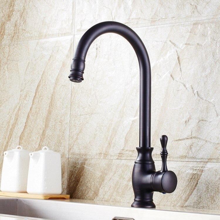 The dark bronze antique copper faucet leading classical faucet basin ...