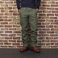 Новое прибытие 2016 супер толстый 17 унц. случайные прямые брюки мужские военные сша старинные длинные брюки