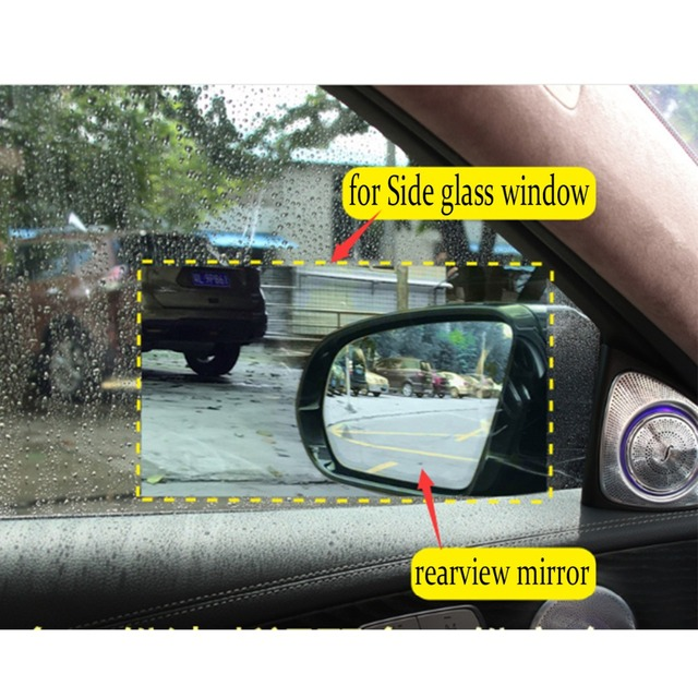 JGAUT 2PCS Car Waterproof Sticker Anti Fog Anti glar e Rainproof Rearview Reversing Mirror Protective Film Tool for Gift