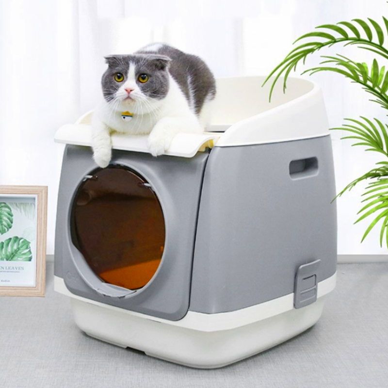 Indoor Cat Sandbox Kitten Litter Box Closed Tray Toilet Bedding Training 3 Colors Detachable Bedpan Small Medium Pet Accessories