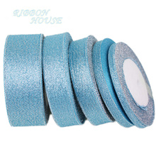 (25 yards/lot) Sky Blue polyester ribbon Christmas packaging ribbon high-grade quality squares ribbons 6/10/20/25/40mm