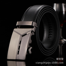 2017 Hot Male Business Trouser Strap Pant Ceinture Homme Cowskin Automatic Buckle Cowhide Men Belts Brand Leather Belt for mens