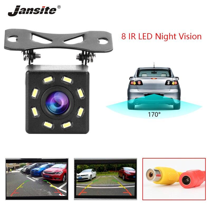 Jansite Водонепроницаемая камера заднего вида парковочная линия заднего вида 8 LED 170 градусов угол обзора ночного видения Автомобильная камера ...