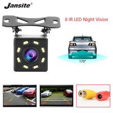 Jansite Waterproof rear view camera Reversing Parking line 8 LED 170 degree viewing angle night vision car camera backup camera цена