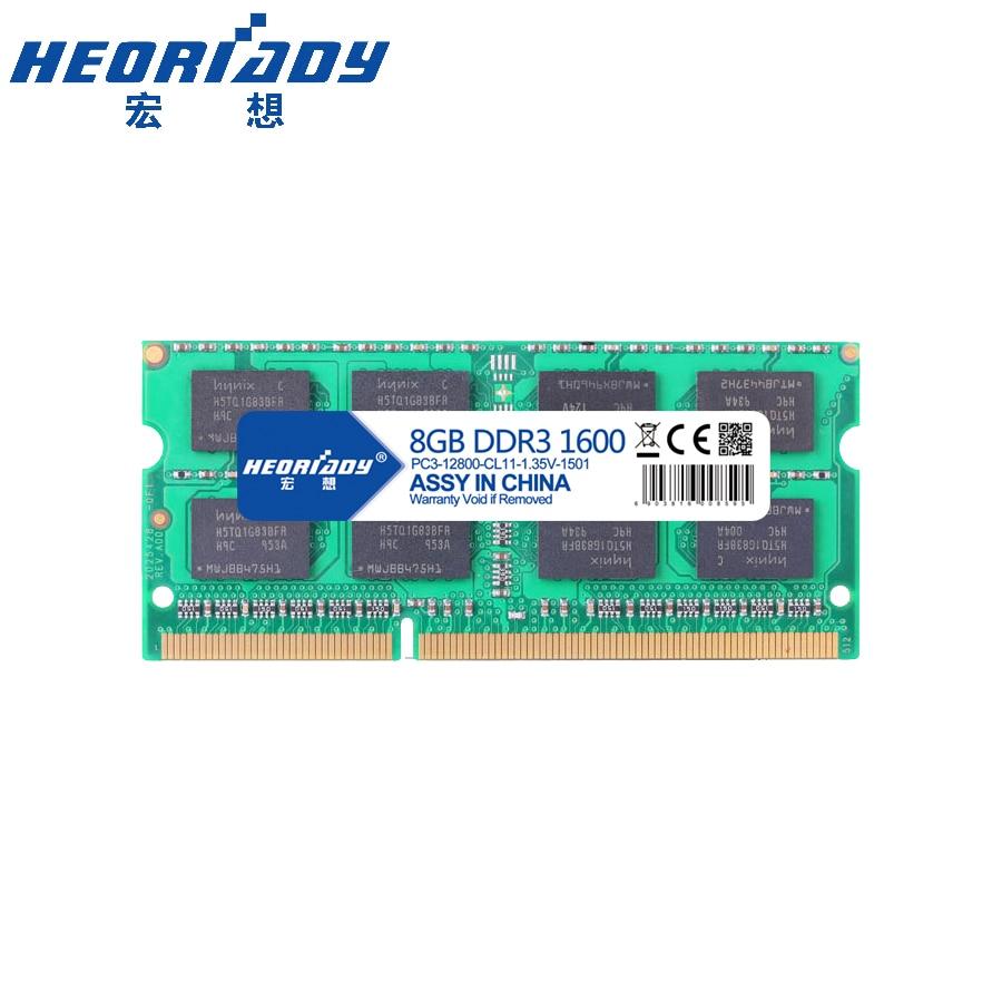 Ноутбук sodimm ddr3 8 ГБ 1600 мГц 1,35 В ОЗУ notebook compatible 1333 мГц 4 ГБ 8 ГБ