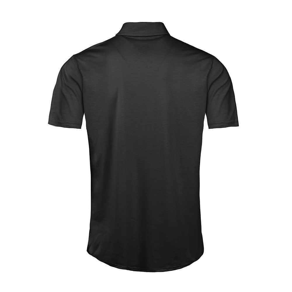 Heflashor camisa polo masculina de negócios casual sólido camisa polo manga curta alta qualidade roupas marca dropshipping