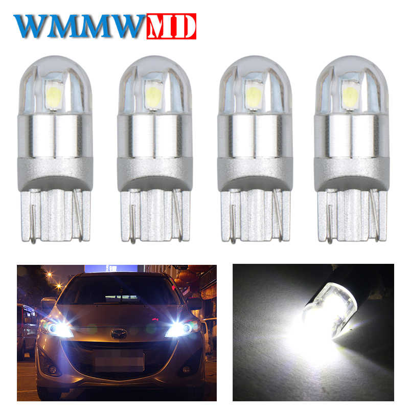 4pcs Signal Lamp 3030 T10 Led Car Bulb W5W 168 194 Led T10 Led Lamps For Cars White 5W5 Clearance Backup Reverse Light White 12V