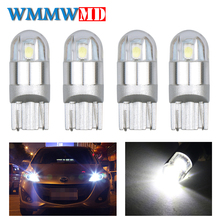 4pcs Signal Lamp 3030 T10 Led Car Bulb W5W 168 194 Lamps For Cars White 5W5 Clearance Backup Reverse Light 12V