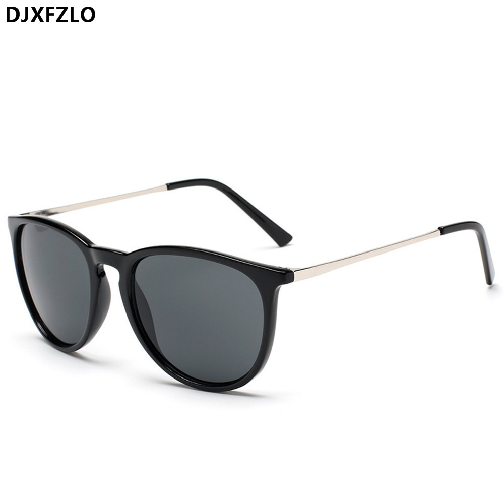 DJXFZLO 2018 Retro Male Round Sunglasses Women Men Brand Designer Sun Glasses for Women Alloy Mirror Sunglasses Oculos De Sol