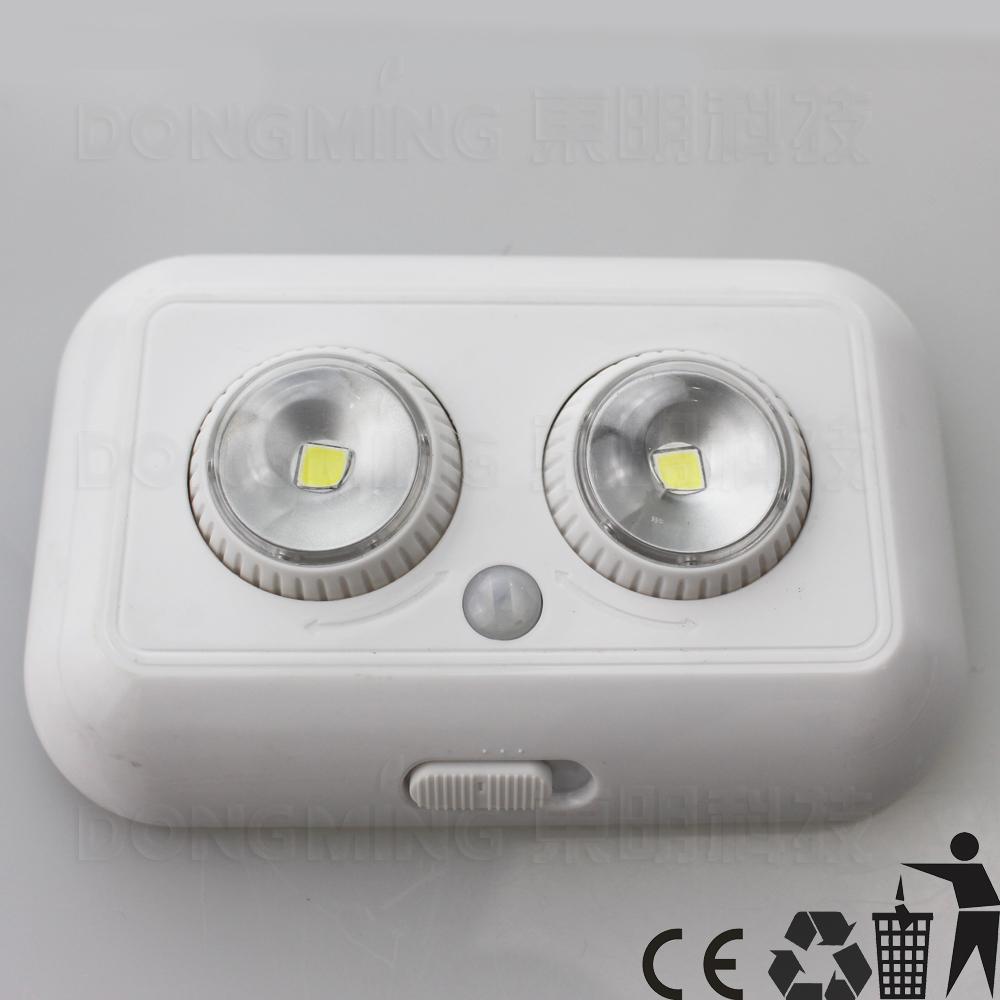 20pcs/lot led infrared sensor light pir motion human body AUTO sensing lamp for indoor use emergency night light 3*AAA Battery