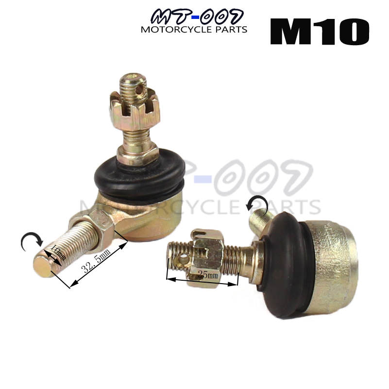 M10 Barra Bola Conjunto Para 50cc 70cc 90cc 110cc 125cc 150cc 200cc 250cc Atv Quad 4-wheeler FabricacióN HáBil