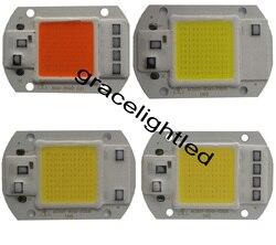 20 w 30 w 50 w espectro completo 380-840nm branco morno led projector cob chip 110 v 220 v entrada integrado ic inteligente driver