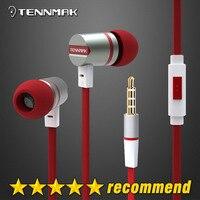 Tennmak mulcimer rojo en la oreja auricular y auricular de metal con micrófono y control remoto para iPhone & Samsung & HTC & Android & MP3 * envío gratis * Nuevo