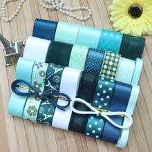 DIY Ribbon sets----green ribbon set (total 26 yards)