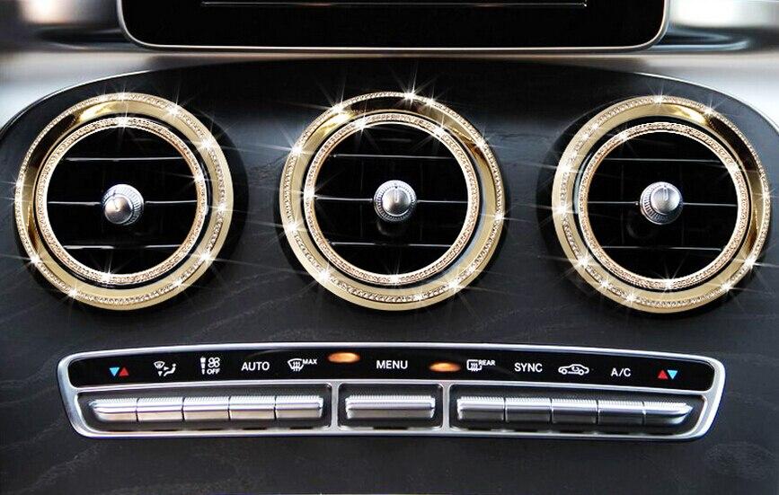 Garniture de couvercle de sortie de climatisation pour Mercedes Benz GLA CLA GLC accessoires de classe C, style de voiture