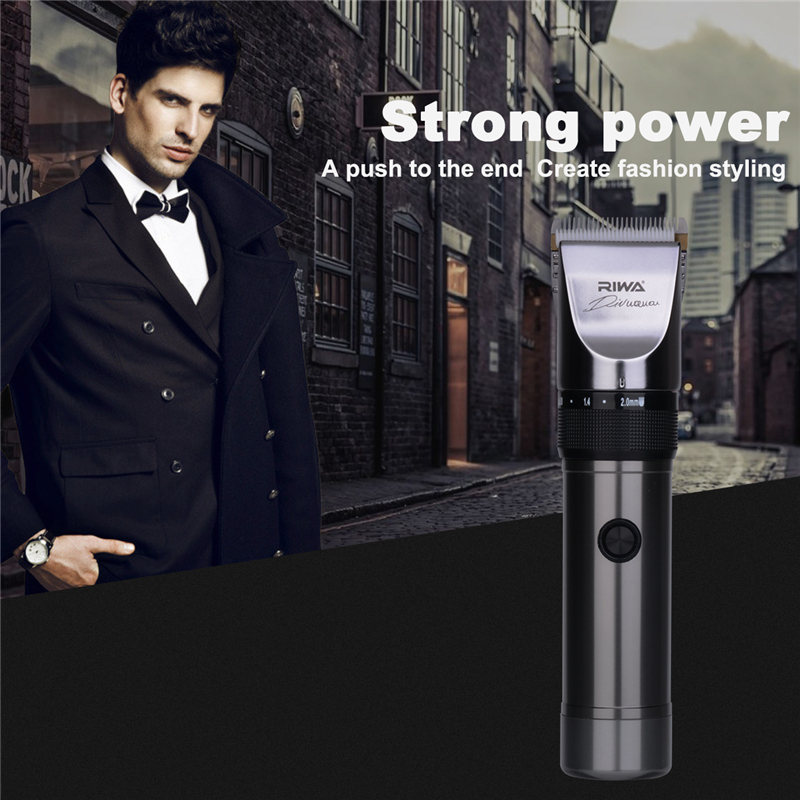 Professional Rechargeable Hair Clipper Trimmer Hair Cutting Kit Low Noise Trimmer+Professional Replaceable Hair Clipper Blade 40