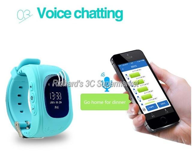 Relógio Do Telefone inteligente Crianças Kid relógio de Pulso G36 Q50 GSM GPRS Localizador GPS Tracker Criança Guarda de alarme Anti-Perdida Smartwatch para iOS Android
