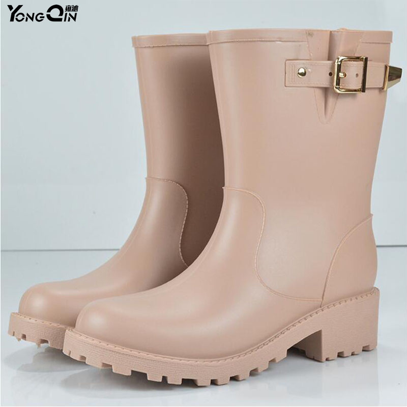 New Women Rain Boots Waterproof  Spring Autumn Shoes Rain Boot Woman Ankle Boots Large size 40 water shoes spring and autumn woman warm rain shoes and ankle rain boots lady waterproof fashion rubber boots