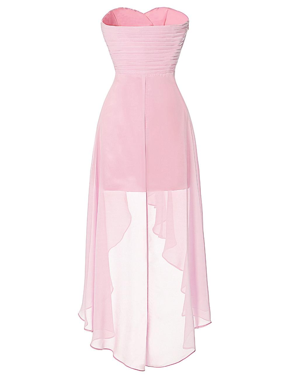 Alta baja Vestidos de baile Grace Karin elegante barato Pale ...