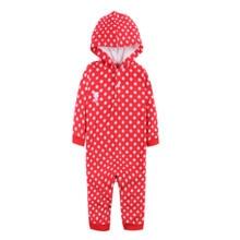 2057dc061f68b0 Nowy 2017 Jesień/Zima Body Niemowlęce ubrania z długim rękawem kombinezony  dla niemowląt Dziewczyny Polar Odzież niemowlęca
