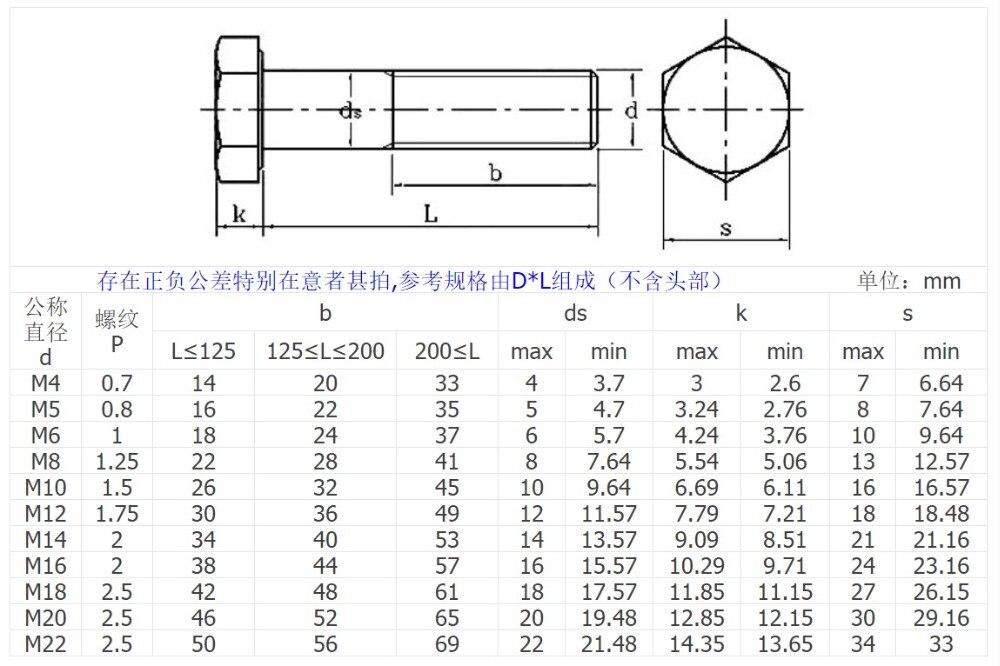 M8 M10 304 SS HALF THREAD HEX CAP HEAD SCREWS BOLTS GB5782//DIN931