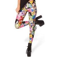 Восточное Вязание X-038 Время Приключений Джейк леггинсы 2017 модные новые женские Мультяшные штаны s m l xl