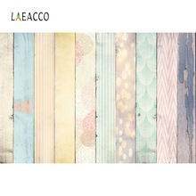 Laeacco Colorful Planks Wooden Board Pet Doll Texture Portrait Photography Backgrounds Photographic Backdrops For Photo Studio