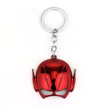 Super Heroes The Flash Metal Alloy Keychain Red Gold Metal Key chain ring