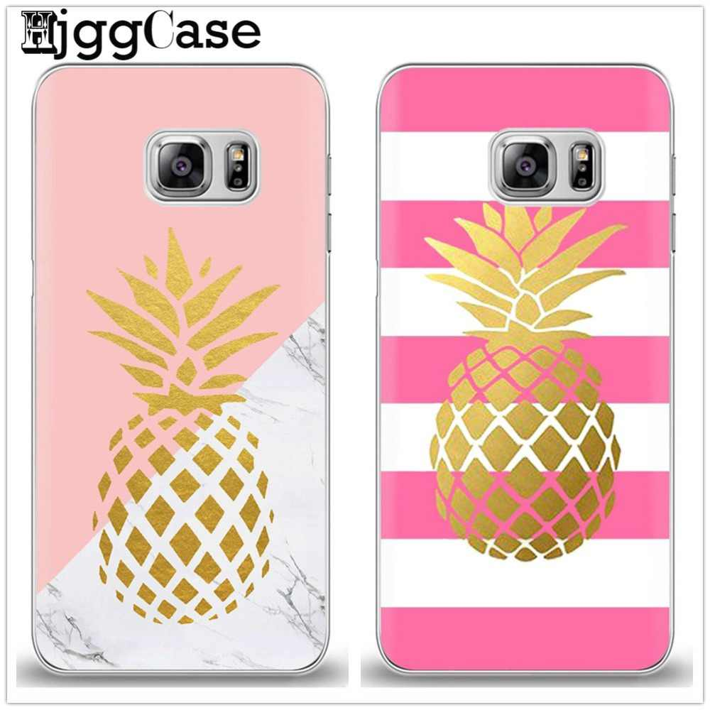 Gold Pineapple Marble stripe Soft Cover Case For Samsung Galaxy S6 S7 Edge S8 S9 Plus A3 A5 A7 J2 J3 J5 J7 2016 2017 Grand Prime