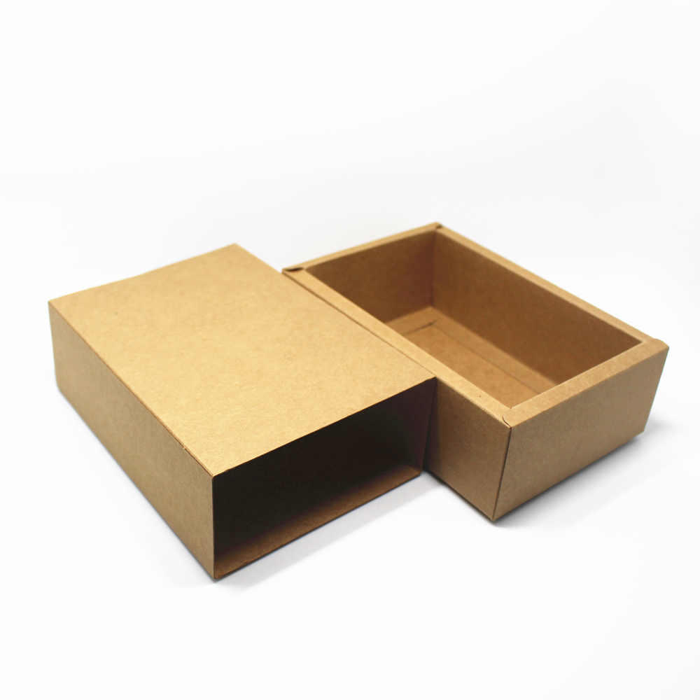dhl 50pcslot wedding anniversary party paper packing box brown kraft paper with drawer packaging