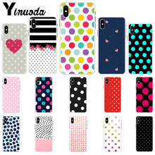 Yinuoda Creative Design Polka Dot Colorful Cute Phone Accessories Case for