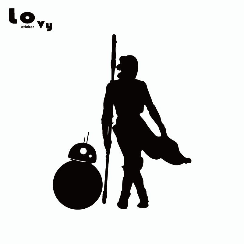 Star Wars The Force Awakens Stickers BB8 and Rey