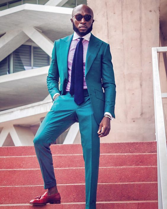 2017 New Arrival Designs Green Turquoise Prom Men Suit Slim Fit Skinny 2 Piece Tuxedo Custom Party Suits Groom Blazers Masuclino
