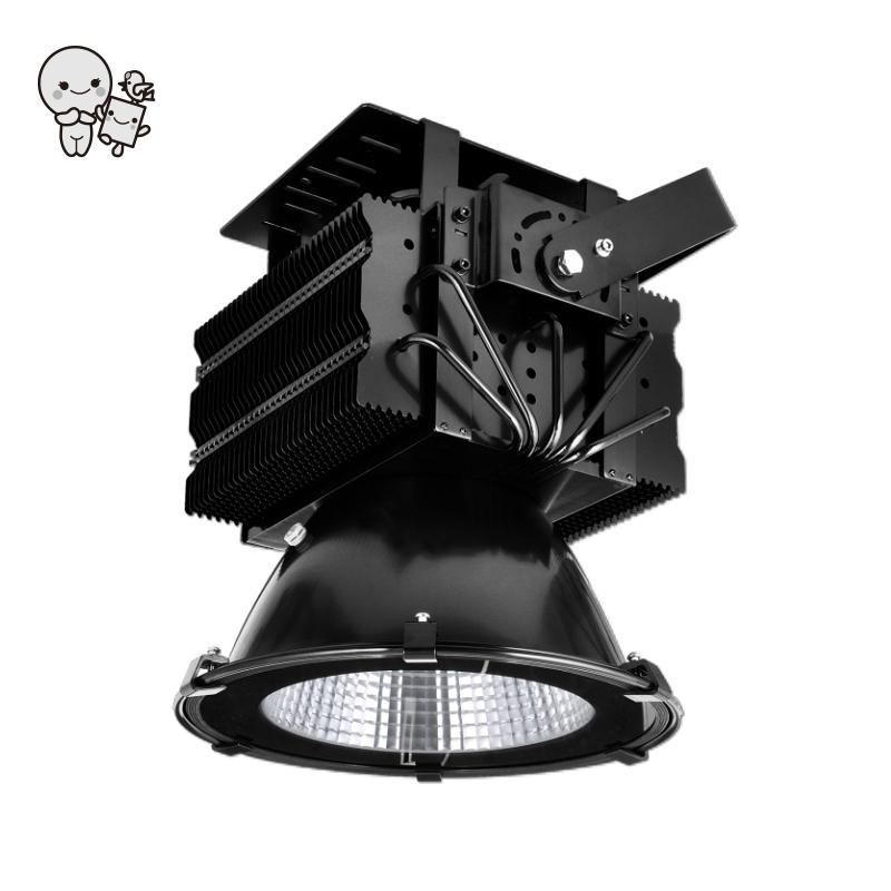 Outdoor 100/200/300/400/500W Waterproof IP66 LED Flood Light Fixture Project Black Aluminum Street Lamp for High Pole Lighting