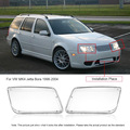 One Pair Plastic Headlight Headlamp Cover Replacement Transparent for VW MK4 Jetta Bora 1998-2004