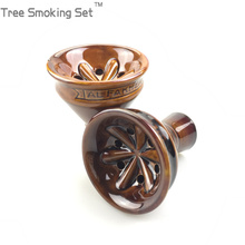 1X BIG Size AL Fakher Shisha Ceramic Bowl Hookah Available Accessories. Color Random bowl Tree Smoking Set